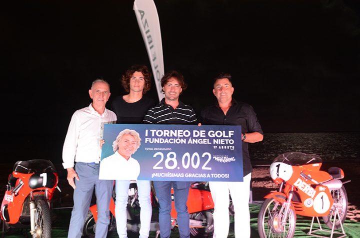 28.002 euros recaudados durante el I Torneo Fundación Ángel Nieto