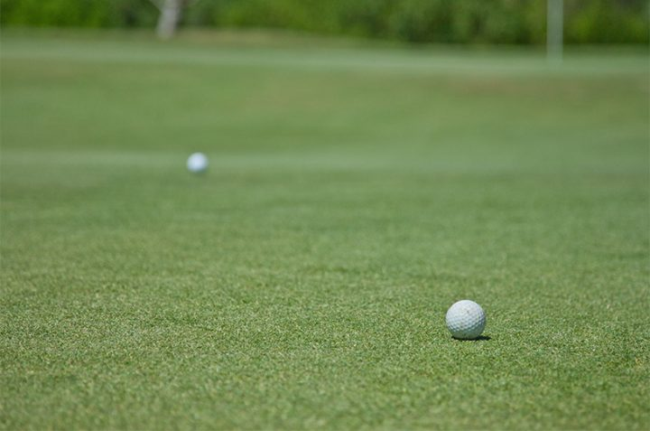 The low ball in golf