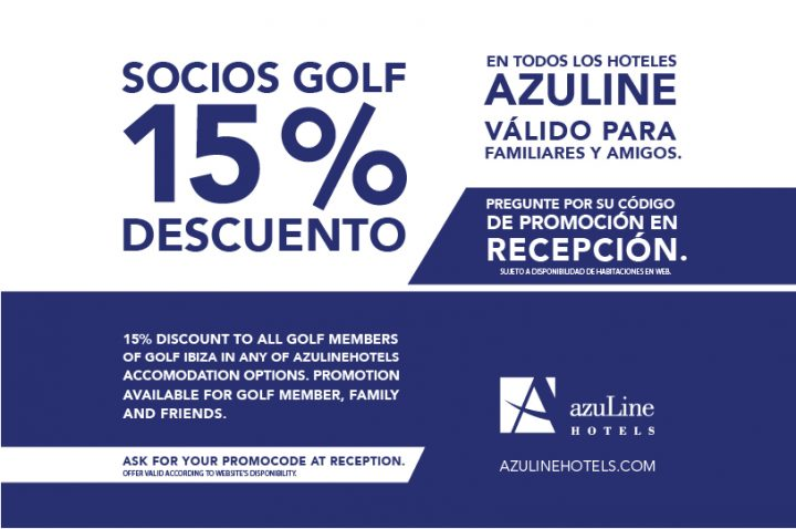SPECIAL DISCOUNT FOR GOLF MEMBERS at azuLinehotels